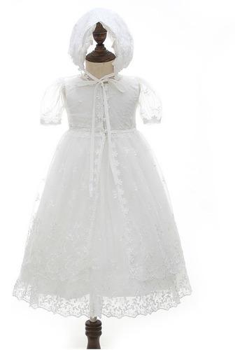 Vestido Longo Mandrião Para Batizados Com Capa E Touca
