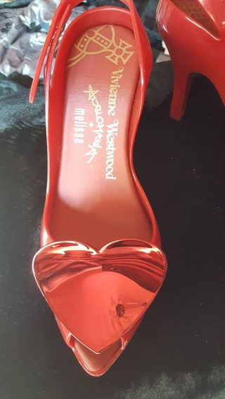 Zapatos Melissa Vivienne Westwood Bordo Corazones Importados