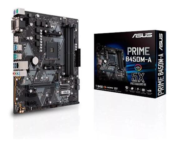 Motherboard Asus Prime B450m-a Am4 Ddr4 Hdmi Usb 3.0