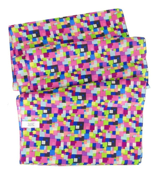 Pañoleta Cuadritos De Colores Poliester