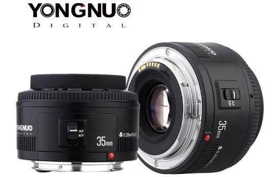 Lente Yongnuo 35mm Para Canon Dslr Melhor Custo Beneficio