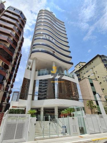 Lindo Apartamento Com 2 Dormitórios ( 1 Suíte ) , 2 Vagas  À Venda, 90 M² Por R$ 539.100 - Vila Guilhermina - Praia Grande/sp - 100 Mts Do Mar - Ap6608