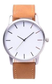 Reloj De Hombre Elegante Marron Claro / Blanco Oferta!