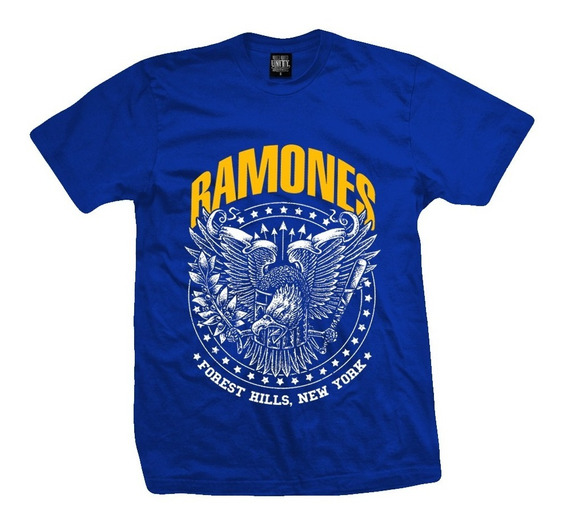 Remera Ramones Forest Hills Eagle Color Azul