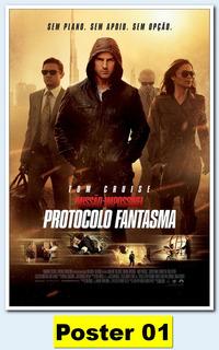 Poster Cartaz 30x42 - Missão Impossível - Protocolo F