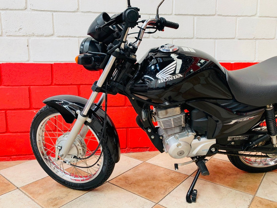 Honda Cg 150 Fan Esi - Preta - 2013 - Financiamos
