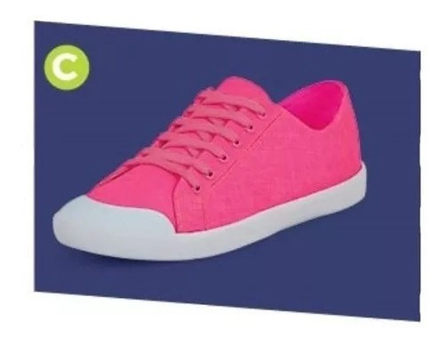 Calzado Tenis Sneakers Dama Mujer Moda Rosa Neon Comodo