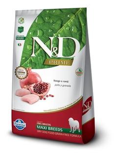 Ração N & D Prime Maxi Cães Frango E Romã 10kg Pett