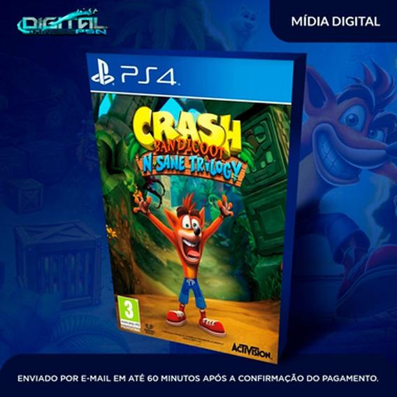 Crash Bandicoot N.sane Trilogy Ps4 Midia Digital Em 10 Min!