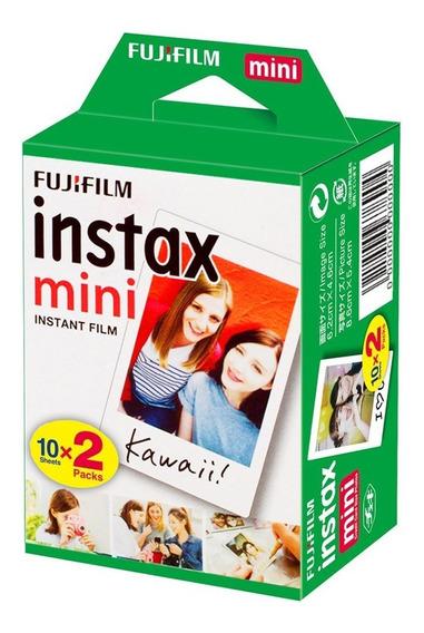 Filme Instax Mini Fujifilm Pack Com 20 C/nota Fiscal Nova
