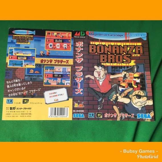Encarte Mega Drive Japonês /bonanza Bros