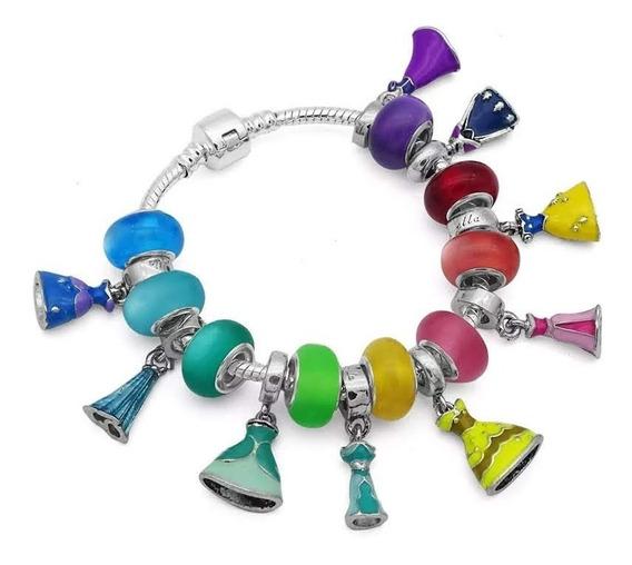 Pulseira Tipo Pandora Vivara Infantil Princesas Completa