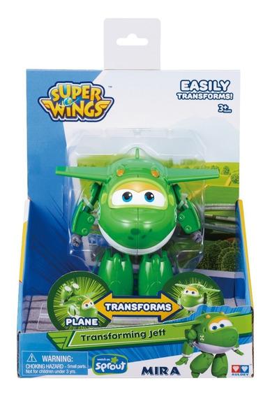 Juguete Figura Super Wings -5 Transformers Robot Avion Mira