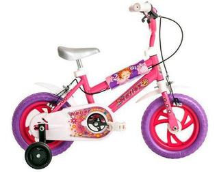 Bicicleta Rodado 12 Halley Nena Con Rueditas Niña