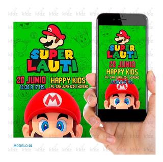 Tarjetas De Invitacion Mario Bros En Mercado Libre Argentina