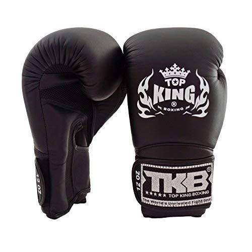 Color Plateado y Negro Top King Super Star Air Guantes de Boxeo