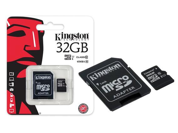 Cartão De Memória Kingston Micro Sd 32gb Classe 10 Adapt Nfe