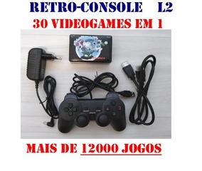 Retro Console L2: Emulador De Video Games Com 12.000 Jogos