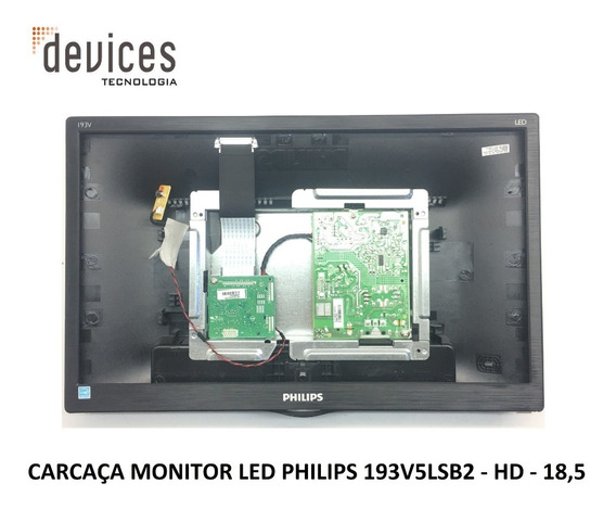 Carcaça Monitor Led Philips 193v5lsb2 - Hd - 18,5