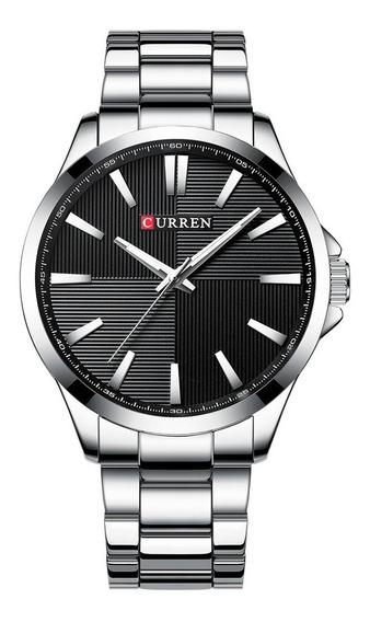 Reloj Curren Hombre Plata Silver Acero Inoxidable Lujo