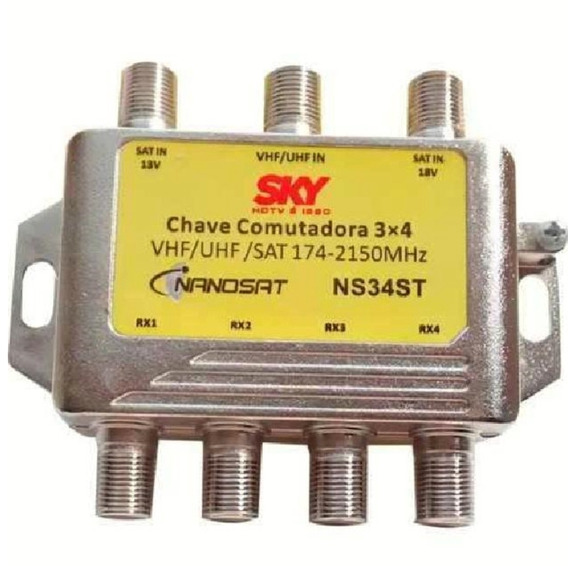 Chave Comutadora 3/4 Banda C Ku Uhv/vhf Saida P/4 Receptor