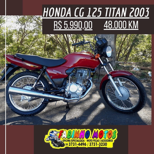 Imagem 1 de 7 de Honda Cg 125 Titan Ks 2003 Vermelha Novíssima!!!