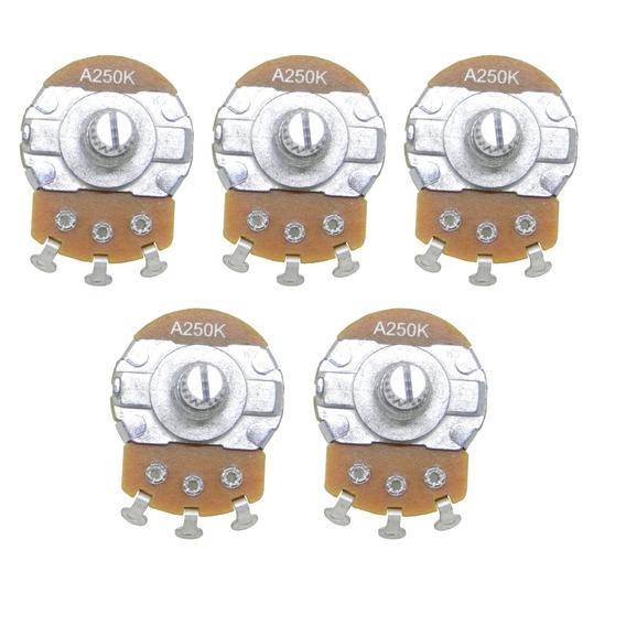 Kit C/ 5 Potenciômetro Andaluz Dreamer A250k C/ Arruela