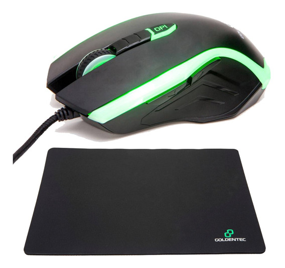 Mouse Gaming 3200 Com 4 Cores De Led + Mousepad Invictus
