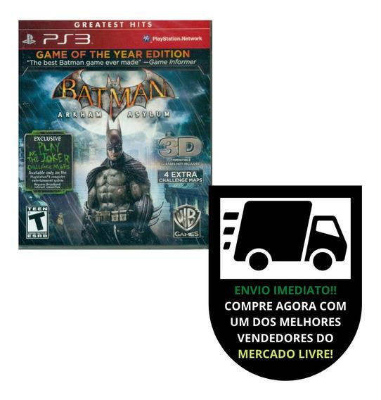 Batman: Arkham Asylum Ps3 + Dlc Jogue Com O Coringa!