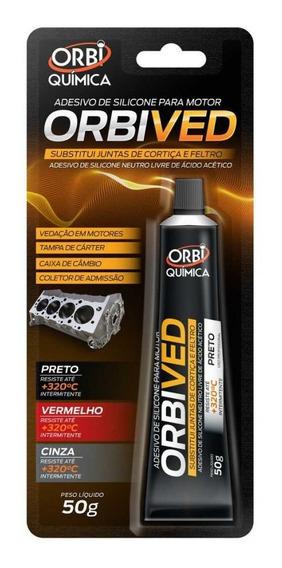 Cola Selante Para Motor Preto Orbived 50g Kit Com 6 Und