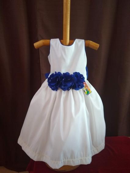 Vestido Niña Fiesta Flores Moño #20 Tallas 2,3,4