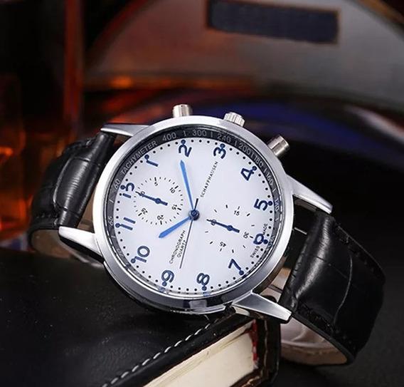 Relógio Pulseira De Couro Quatzo Original