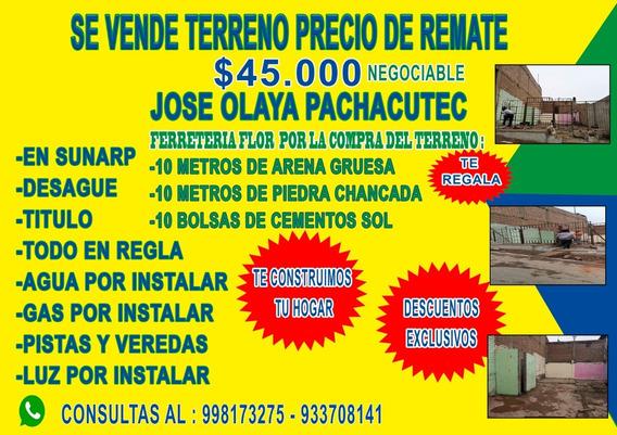 Remato Terreno, 120mts Wilfredo Chumbile +51 998 173 275