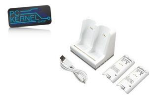 Base + 2 X Paquete Baterías Recargables 2800mah Para Wii