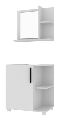 Mueble De Baño Con Espejo Color Blanco