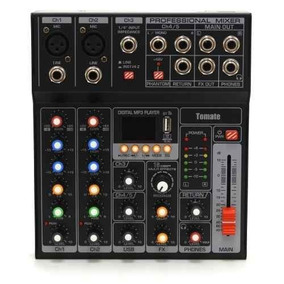 Mesa De Som Profissional P10 7 Canal Bluetooth Grava Usb Mp3