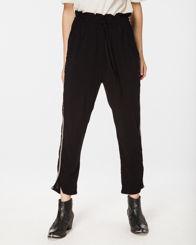 Pantalon De Mujer Color Negro  Outside Wash Wanama Oficial