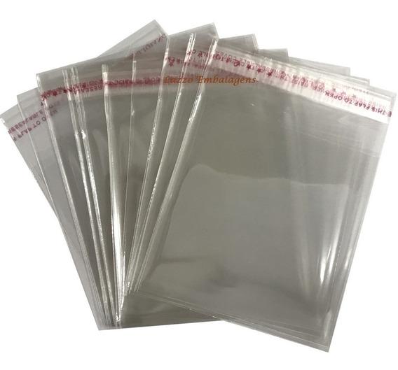 100 Saco Adesivado Plastico Transparente 22x30 Cm+aba A4