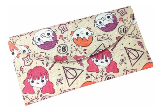 Billetera De Harry Potter Única Tarjetero Hermione Ron