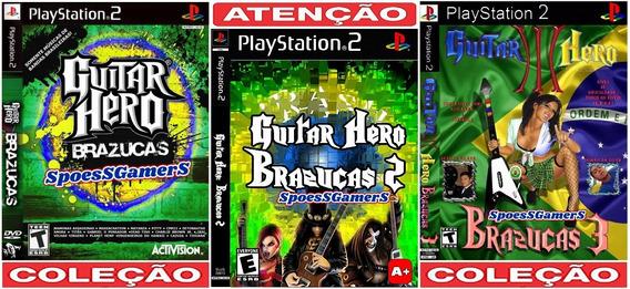 Guitar Hero 3 Brazucas 1, 2 E 3 Coleção (3 Jogos) Ps2 Patch