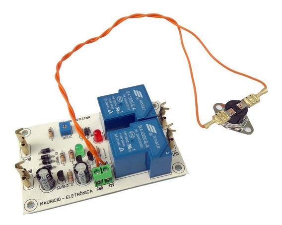 Proteção Dc Com Delay E Sensor Termico Para Amplificador