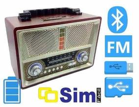 Radio Antigo Multifuncional Retro Am Fm Usb Car Bluetooth