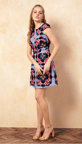 Antix Vestido Curto Limoncello Azul Com Tag R80960