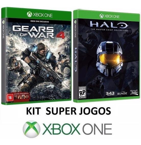 Kit 9 Jogos Coleção Halo E Gears - Midia Fisica - Xbox One