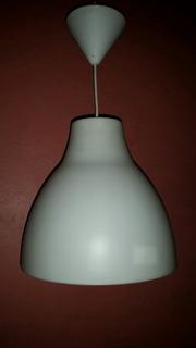 Lampara Colgante Minimalista Plastico Blanca