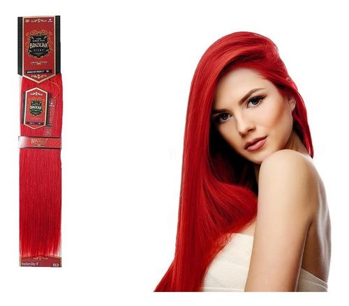 Extension Cabello Brazilian 18pLG 100%natural Rojo Fantasia