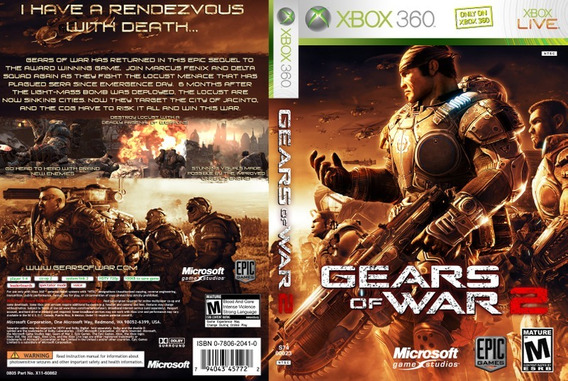 Jogo Xbox 360/one Gears Of War 2 Código 25 Dígitos