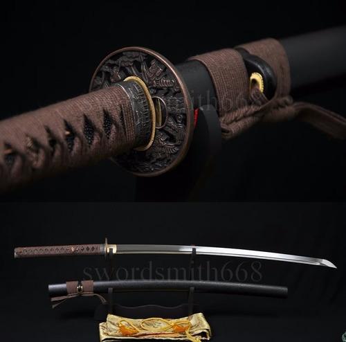 Katana Forjada Tradicional Original Aço Dobrado Espada Corte