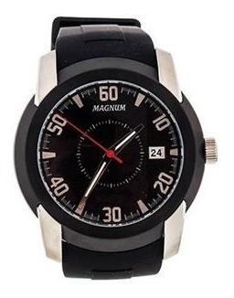 Relógio Masculino Magnum Analógico Ma34914c + Pulseira Silicone Menor Preço Original 2 Anos De Garantia Nf