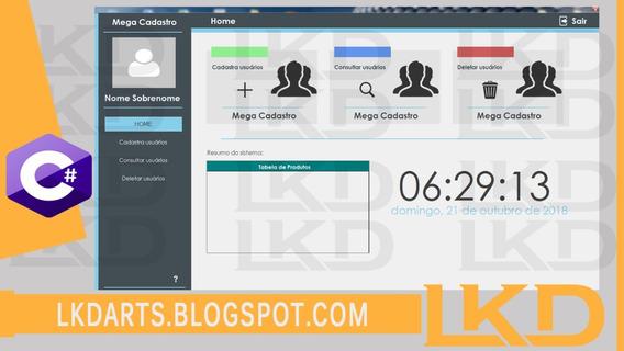 Megadesign Interface Gráfica Em C# - Pack Com 3 Unidades